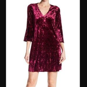 Eliza J Velvet Bell-Sleeve Sheath Dress Size 16